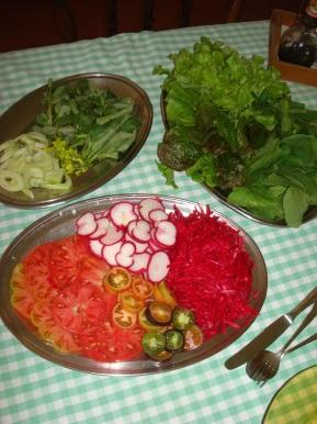 Cor, sabor e frescor.... não existe melhor opção para enfrenetar este calor do que uma deliciosa salada!!!